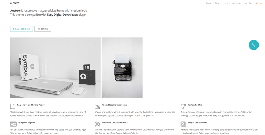 Austere EDD WordPress Theme