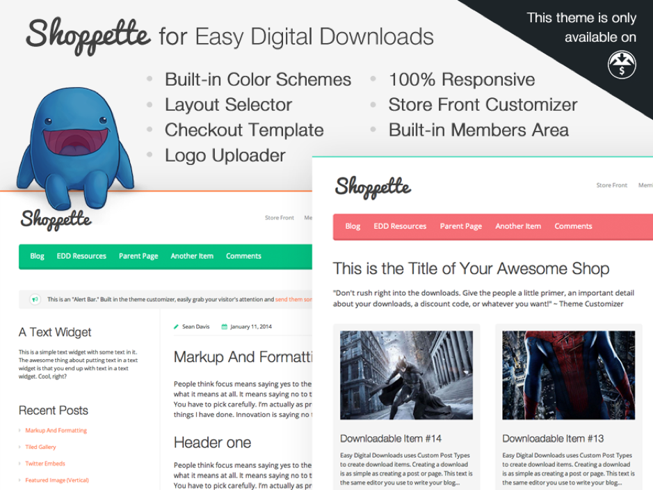 Shopette WordPress Theme